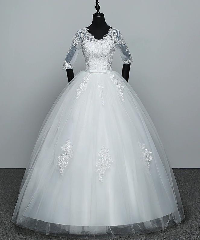 a6481d3fbd5b Dlhé svadobné šaty k dispozícii ihneď 40 42
