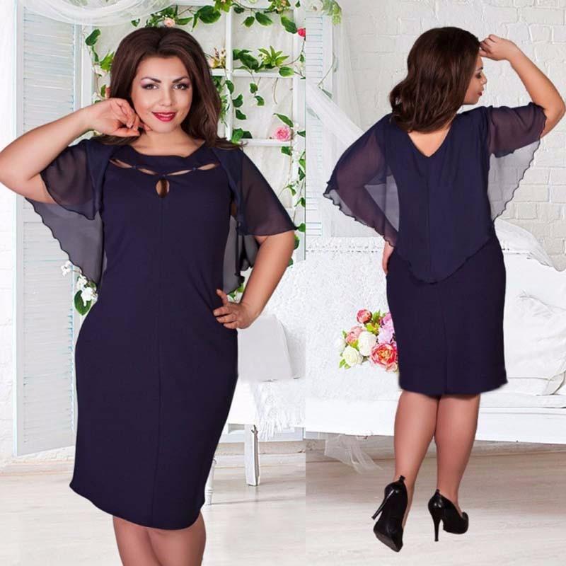 e515aca1e5b9 Krátke spoločenské šaty pre moletky - 7 veľkostí