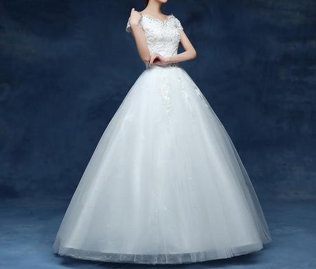 AKCIA Dlhé svadobné šaty k dispozícii EU38/42, 38