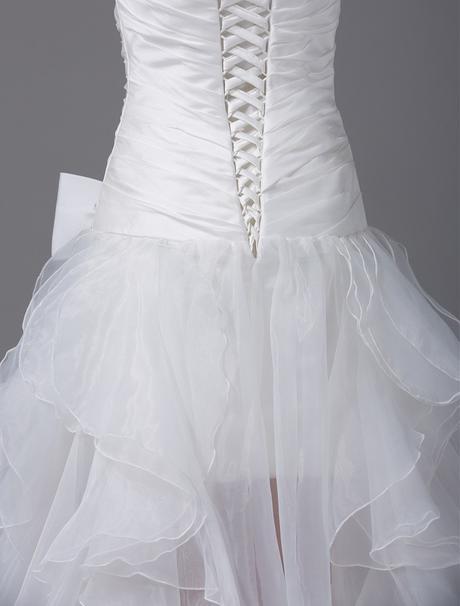 Asymetrické svadob./popol.šaty-13 veľkostí,9 farie, 40