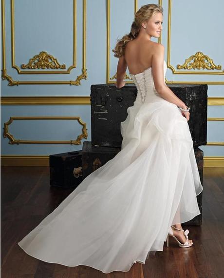 Asymetrické svadob./popol. šaty-8 veľkostí,2 farby, 40