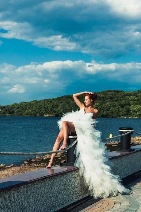 Asymetrické svadobné šaty - 7 veľkostí, 36