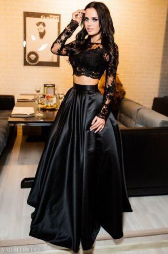 Dlhé spoločenské šaty - sukňa + top - 4 veľkosti 5c8a418496f