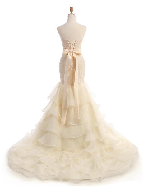 Dlhé svadobné šaty - 10 veľkostí, 38