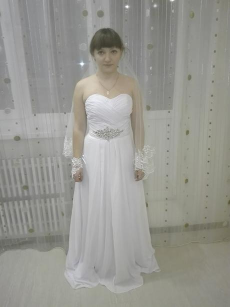 Dlhé svadobné šaty - 11 veľkostí, 2 farby, 38