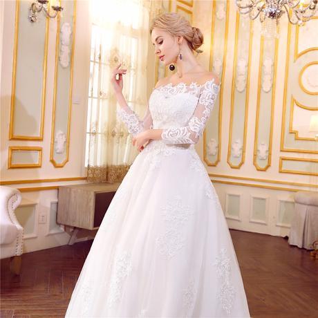 Dlhé svadobné šaty - 12 veľkostí, 2 farby, 38