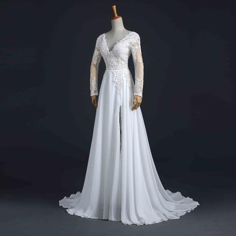 Dlhé svadobné šaty - 13 veľkostí, 4 farby, 38