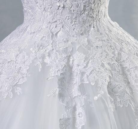 Dlhé svadobné šaty - 14 veľkostí, 2 farby, 40