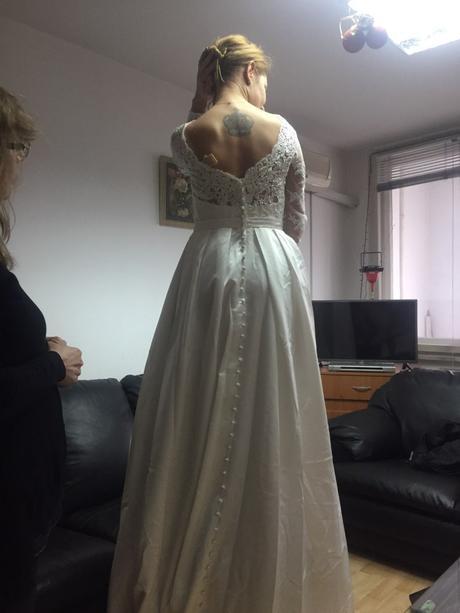 Dlhé svadobné šaty - 15 veľkostí - 3 farby, 44