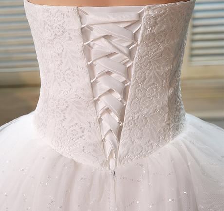 Dlhé svadobné šaty - 16 veľkostí, 44