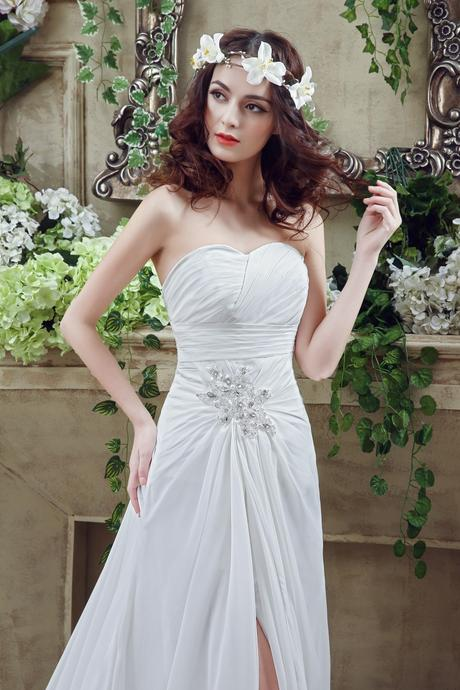Dlhé svadobné šaty - 7 veľkostí, 2 farby, 40