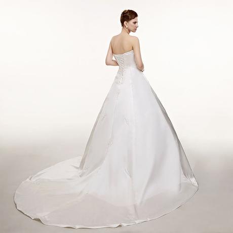 Dlhé svadobné šaty - 7 veľkostí, 2 farby, 42