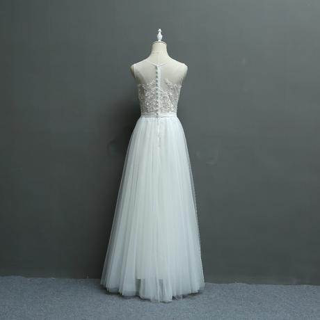 Dlhé svadobné šaty - 7 veľkostí, 42