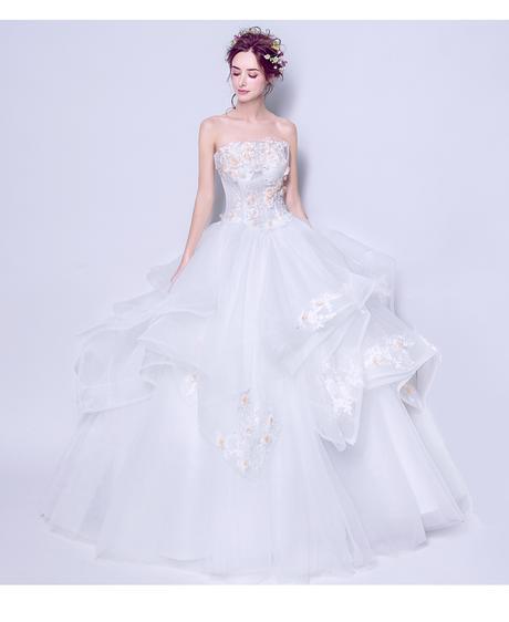 Dlhé svadobné šaty - 7 veľkostí, 44
