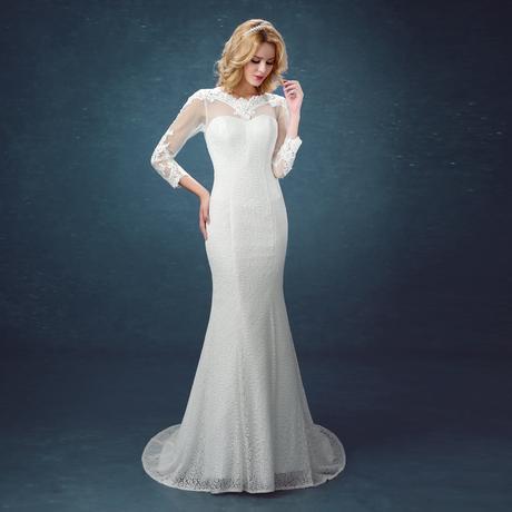 Dlhé svadobné šaty - 8 veľkostí, 40