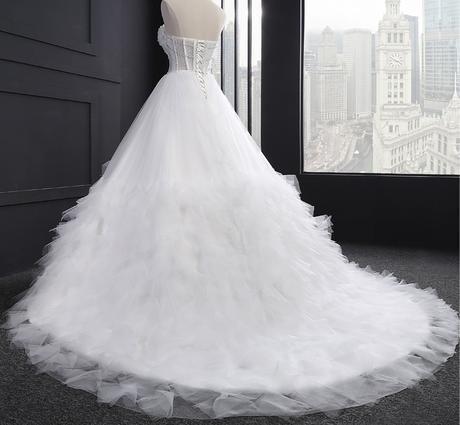 Extravagantné svadobné šaty - 9 veľkostí, 2 farby, 42