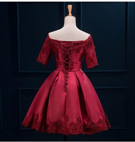 Krátke svadobné/popolnoč. šaty-10 veľkostí,5 farie, 42