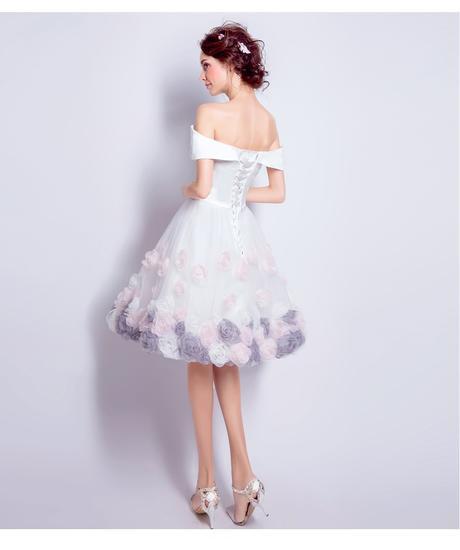 Krátke svadobné/popolnoč. šaty-7 veľkostí, 38