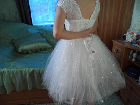 Krátke svadobné/popolnočné šaty - 7 veľkostí, 38