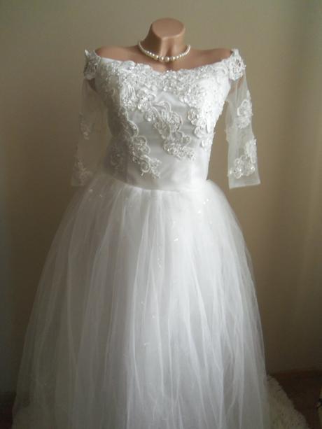 Svadobné šaty EU38-42-regulácia+možnosť rozšírenia, 38