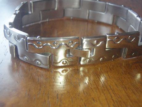Ocelovy sperk na ruku pre pana-stainless steel,