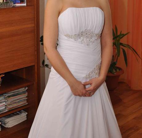 svadobné šaty s dolnkami, 38