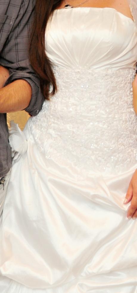 Jemné svadobné šaty 36/38, 36