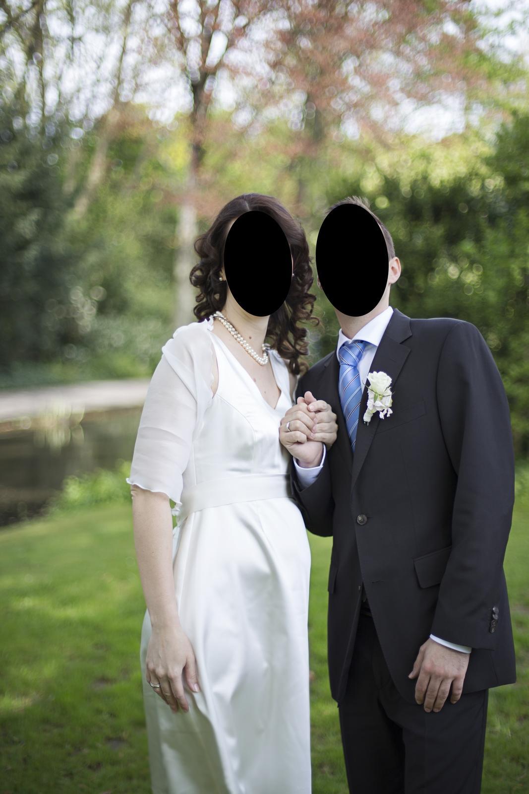 af9fcffb0433 Svatební těhotenské šaty - krémové bílé