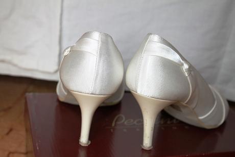 Retro svatební lodičky s otevřenou špičkou, 39