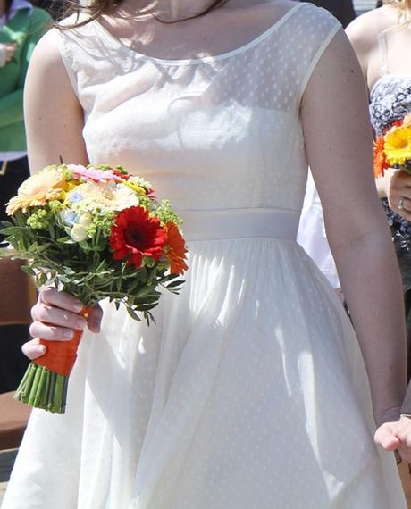 Retro svatební šaty velikost 40-42, 42