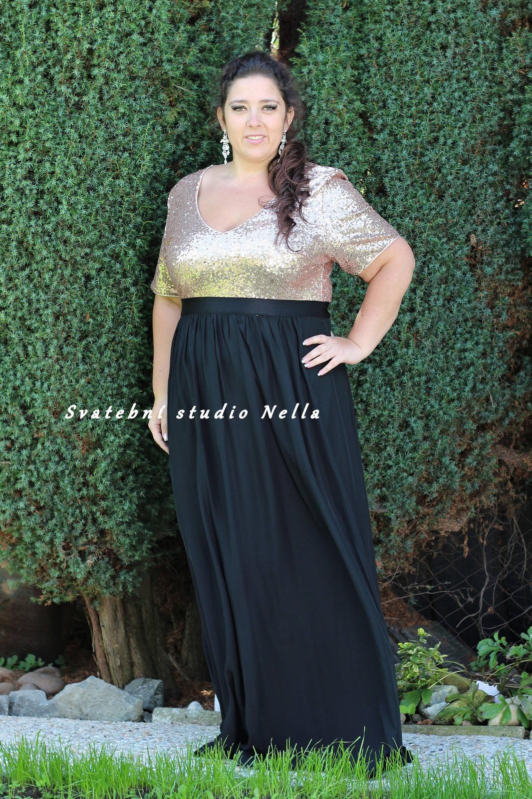 Dlouhé společenské plesové šaty černé vel.54 c0424806d6f