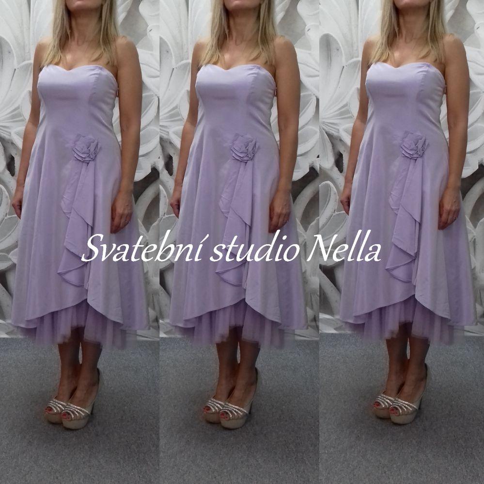 a6491ca45c5 Krátké šaty světle fialové - lila vel. 40