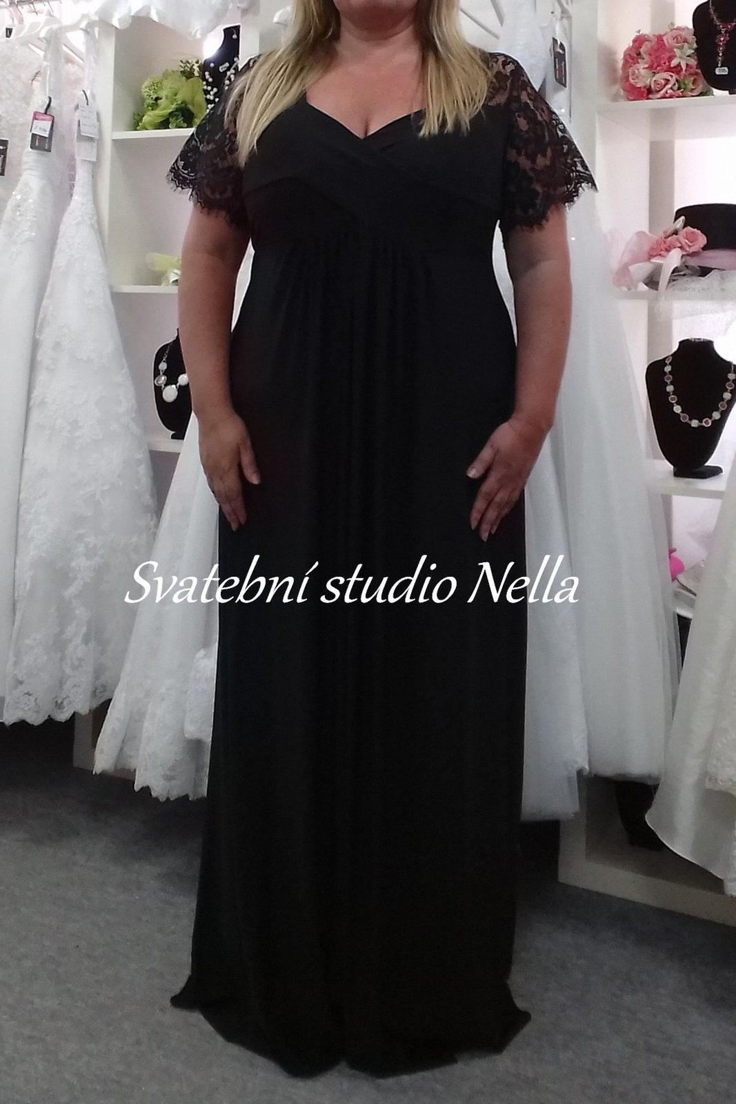 Plesové šaty černé pro plnoštíhlé - velikost 52 1eee13663a