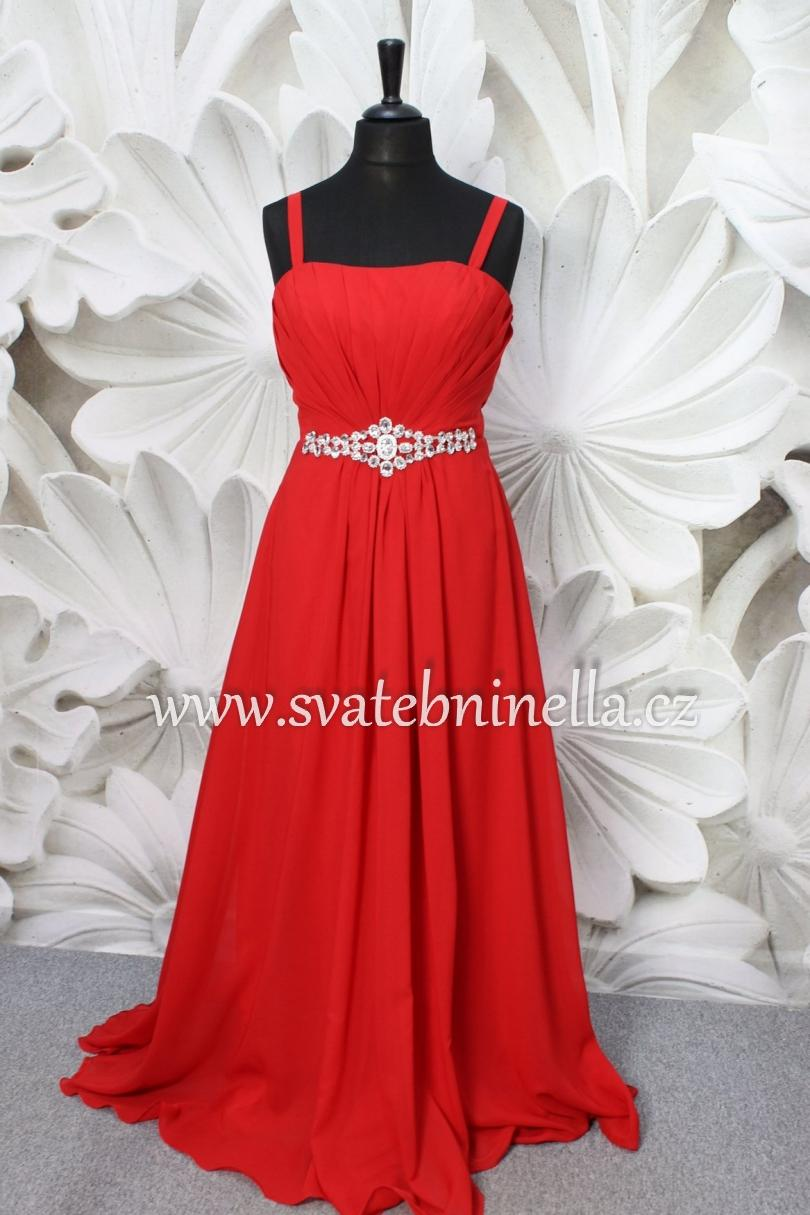 Plesové šaty červené - velikost 44 aa6a038c47