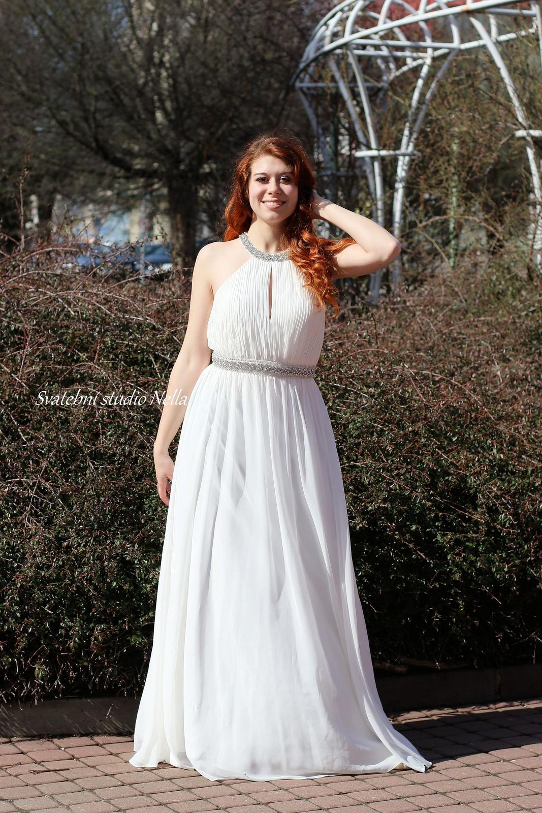 117bbe98aac9 Svatební šaty empírové vel. 38