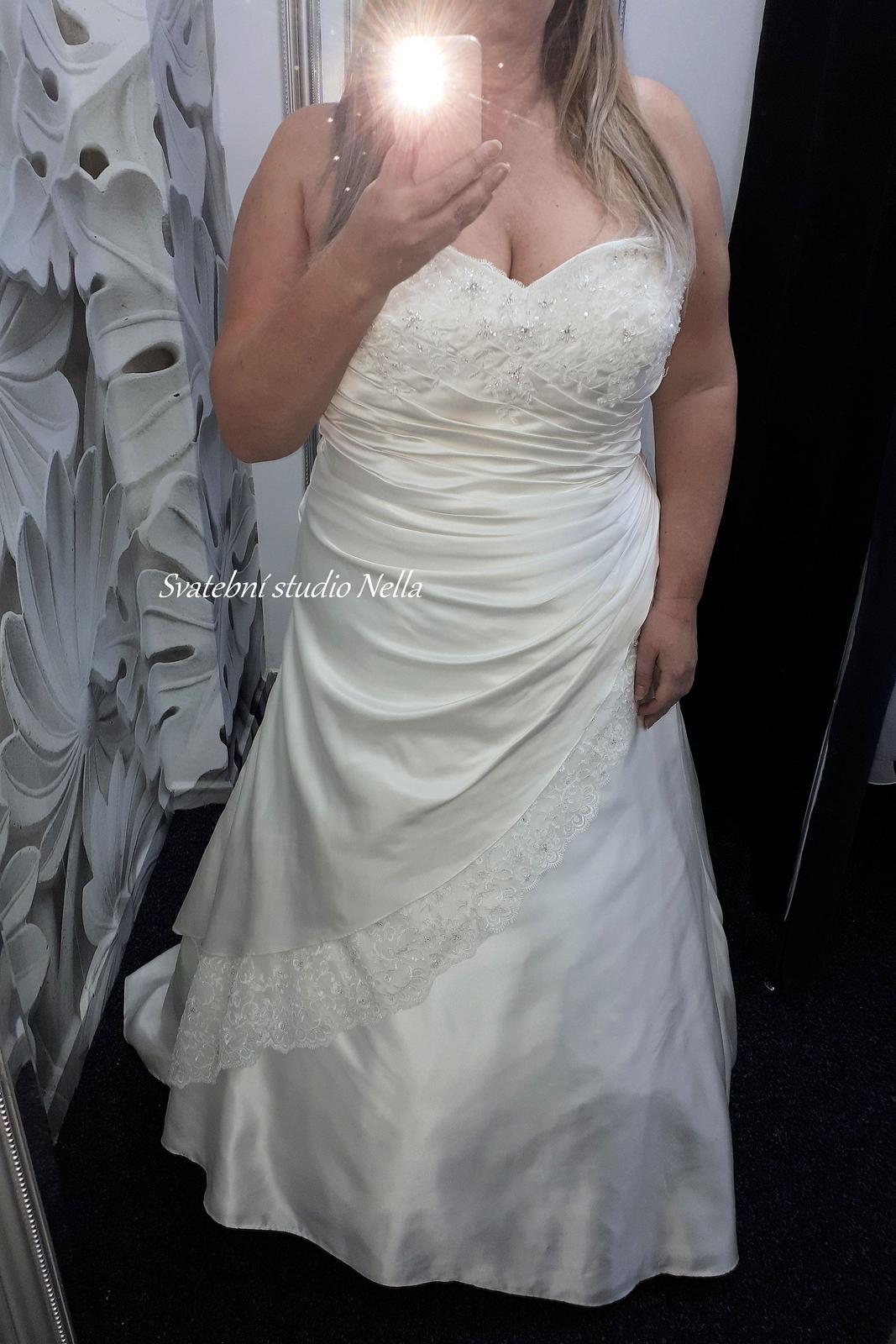 Svatební šaty vel.48 023bbeb4c7