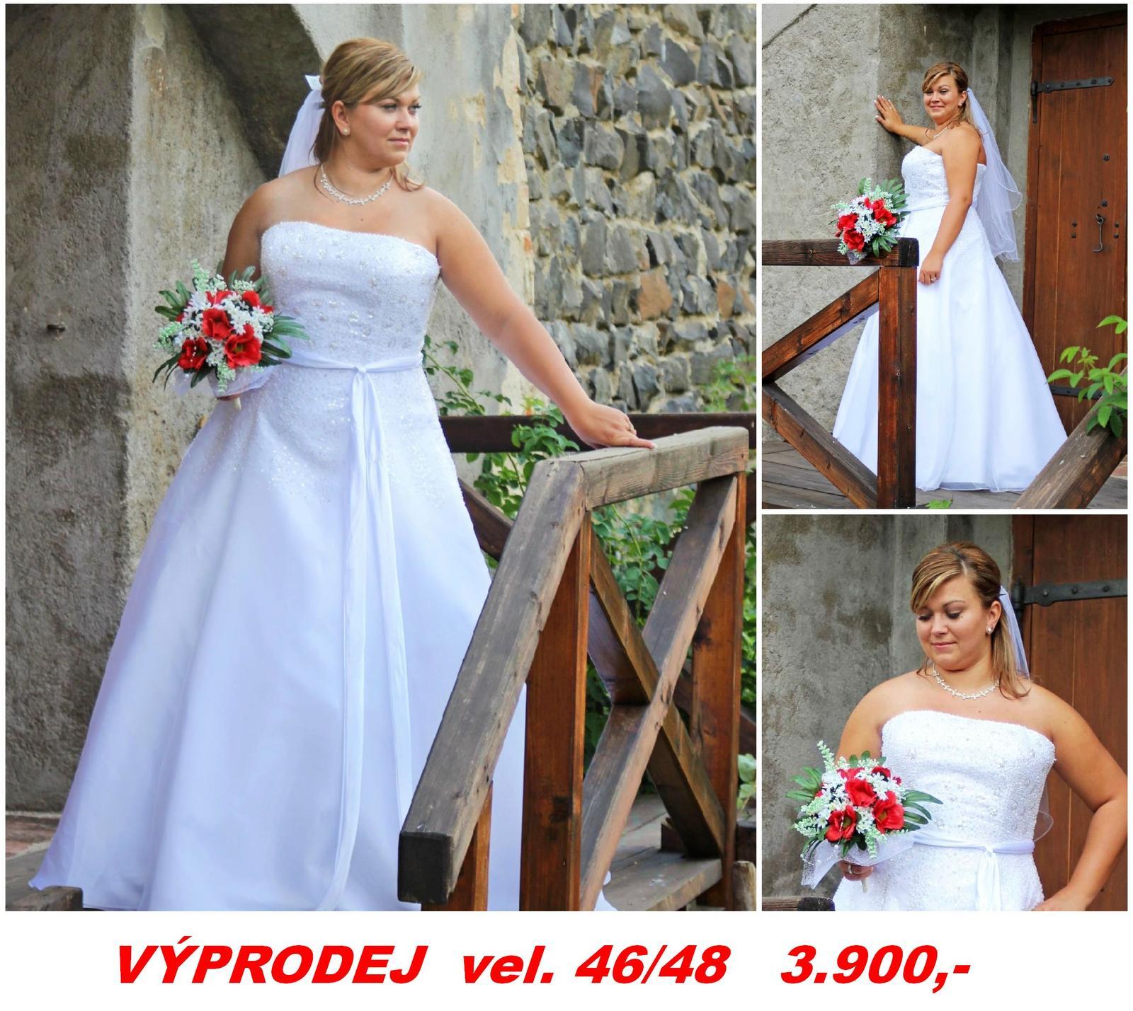 Svatební šaty xl vel. 44 -46 až 48 bca42c6def