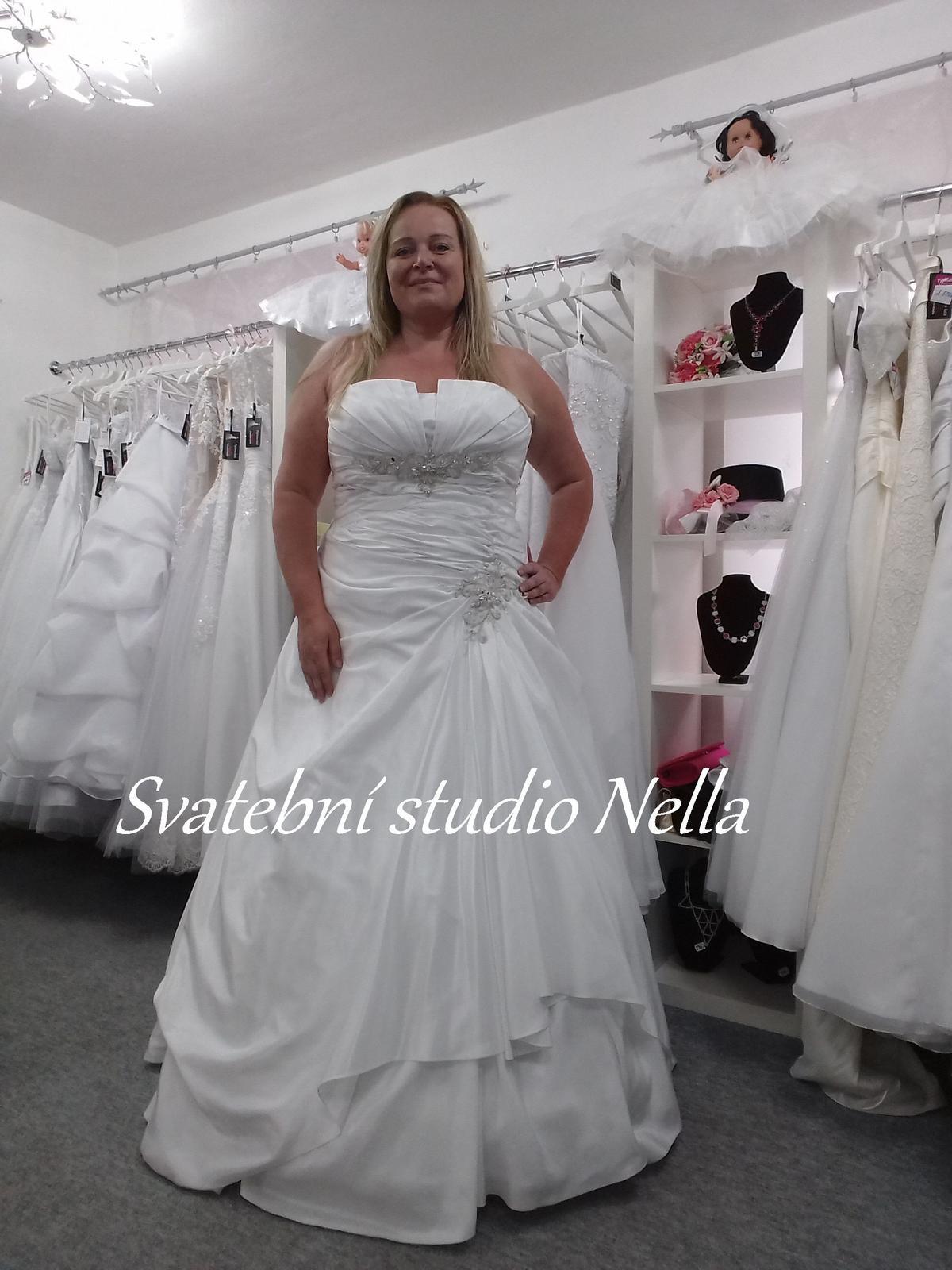 Svatební šaty xxl vel. 48 50 c264b21a7b