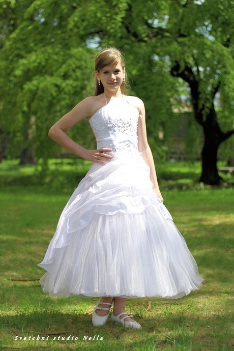 Dětské šaty na svatbu 134/140- půjčovné , 134
