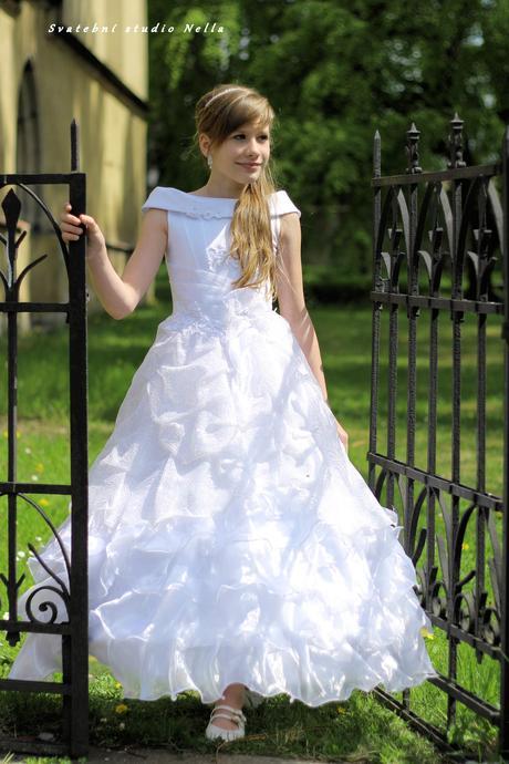 Dětské šaty na svatbu 146/152- půjčovné , 146