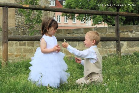 Dětské šaty na svatbu- půjčovné, 92