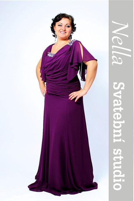 Dlouhé společenské šaty fialové, 42