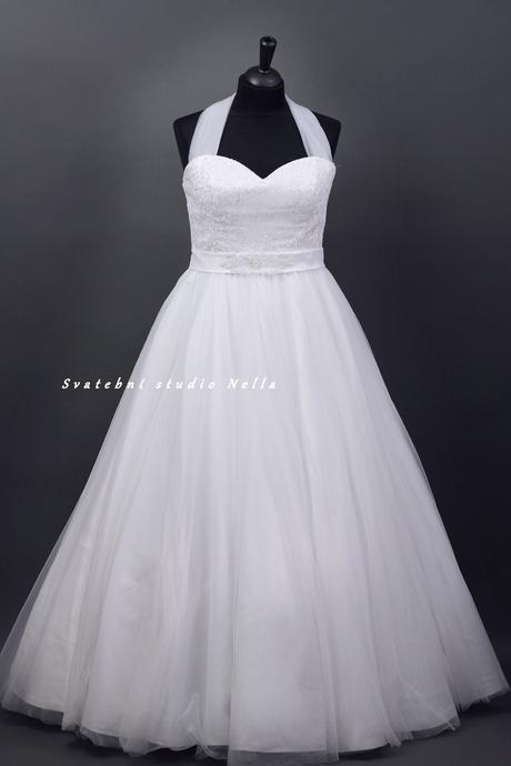 Svatební šaty bílé tylové, 48