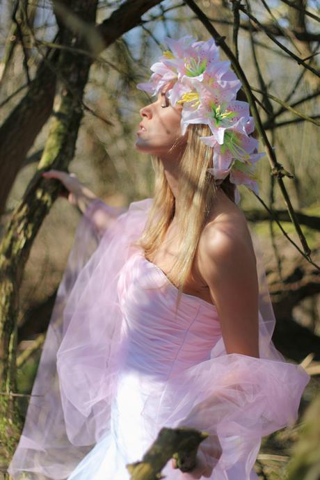 Svatební šaty bílo-růžové N15, 38