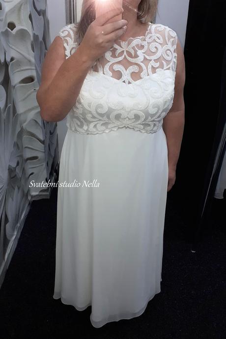 Svatební šaty empírové vel. 52, 52