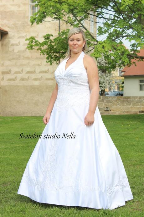 Svatební šaty M67 pro plnoštíhlé, 52