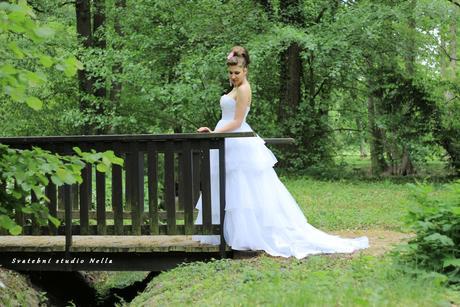 Svatební šaty N42 s vlečkou, 38