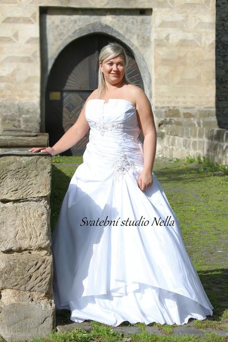 Svatební šaty pro plnoštíhlé N4, 48