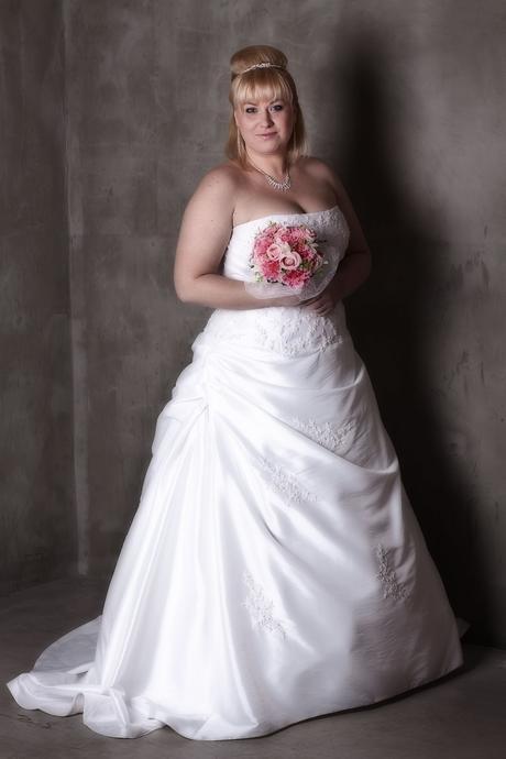 Svatební šaty pro plnoštíhlé XXL N17, 46