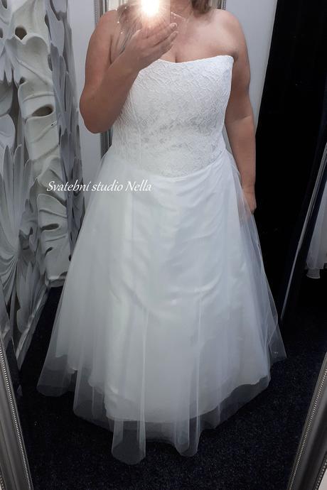 Svatební šaty s krajkou vel. 52, 52